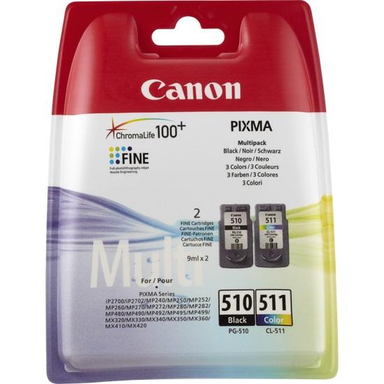 Canon PG-510 / CL-511 - Inktcartridge / Zwart / Kleur / Multipack
