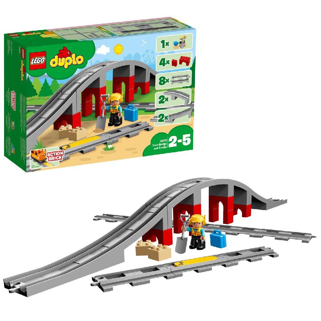 Image of LEGO DUPLO 10872 Treinbrug En -rails