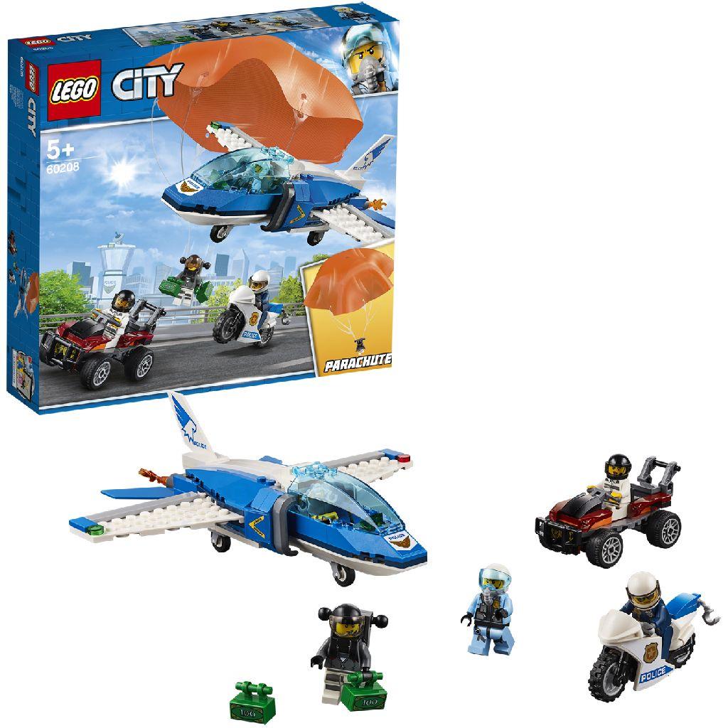 Image of LEGO CITY 60208 Luchtpolitie Parachute-Arrestatie