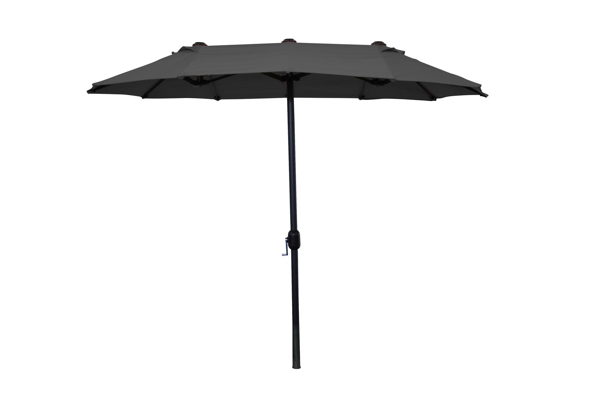 Van Wohi Leco balkon ovale parasol antraciet (270 x 150 cm) (20301 114) Prijsvergelijk nu!