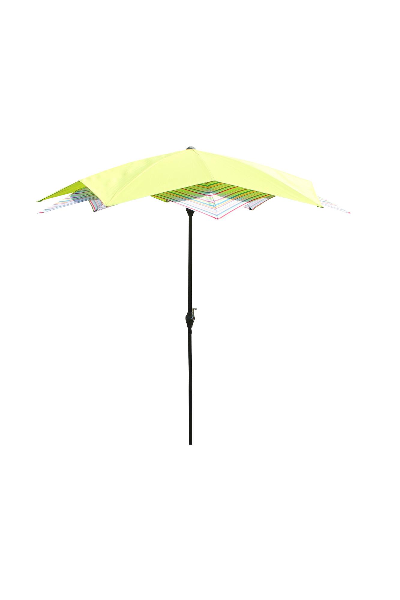 Van Wohi Leco Bloem Parasol groen gestreept (doorsnede 270 cm) (20700 507) Prijsvergelijk nu!