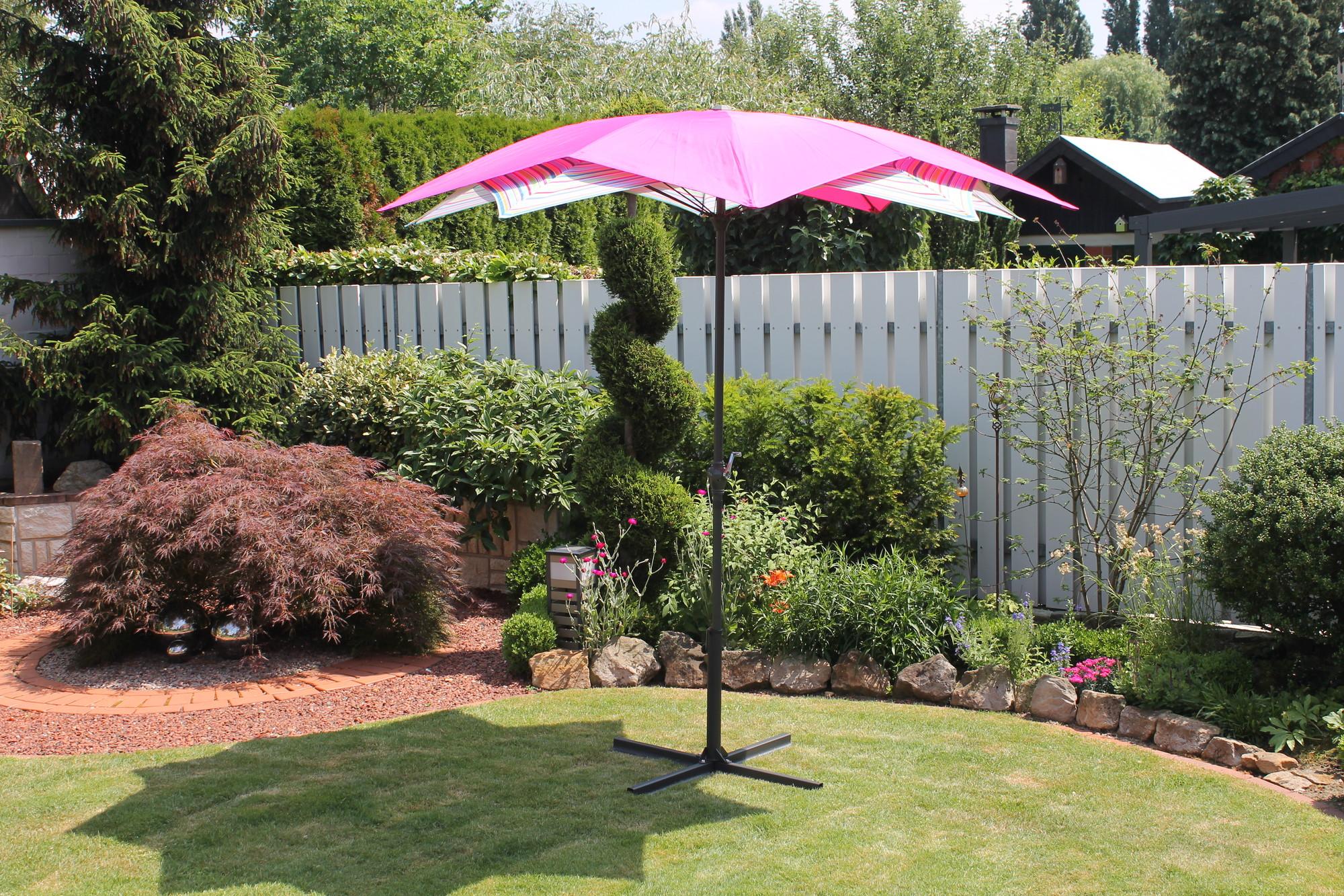 Van Wohi Leco Bloem Parasol roze gestreept (doorsnede 270 cm) (20700 513) Prijsvergelijk nu!