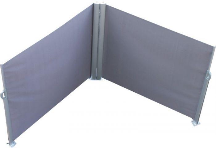 Van Wohi Leco Dubbel oprolbaar windscherm, kleur antraciet (160 x 600 cm) (99006119) Prijsvergelijk nu!