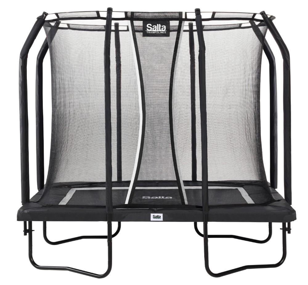 Salta Rechthoekige Trampoline met Veiligheidsnet Premium Black Edition Antraciet 153x214 (5361)