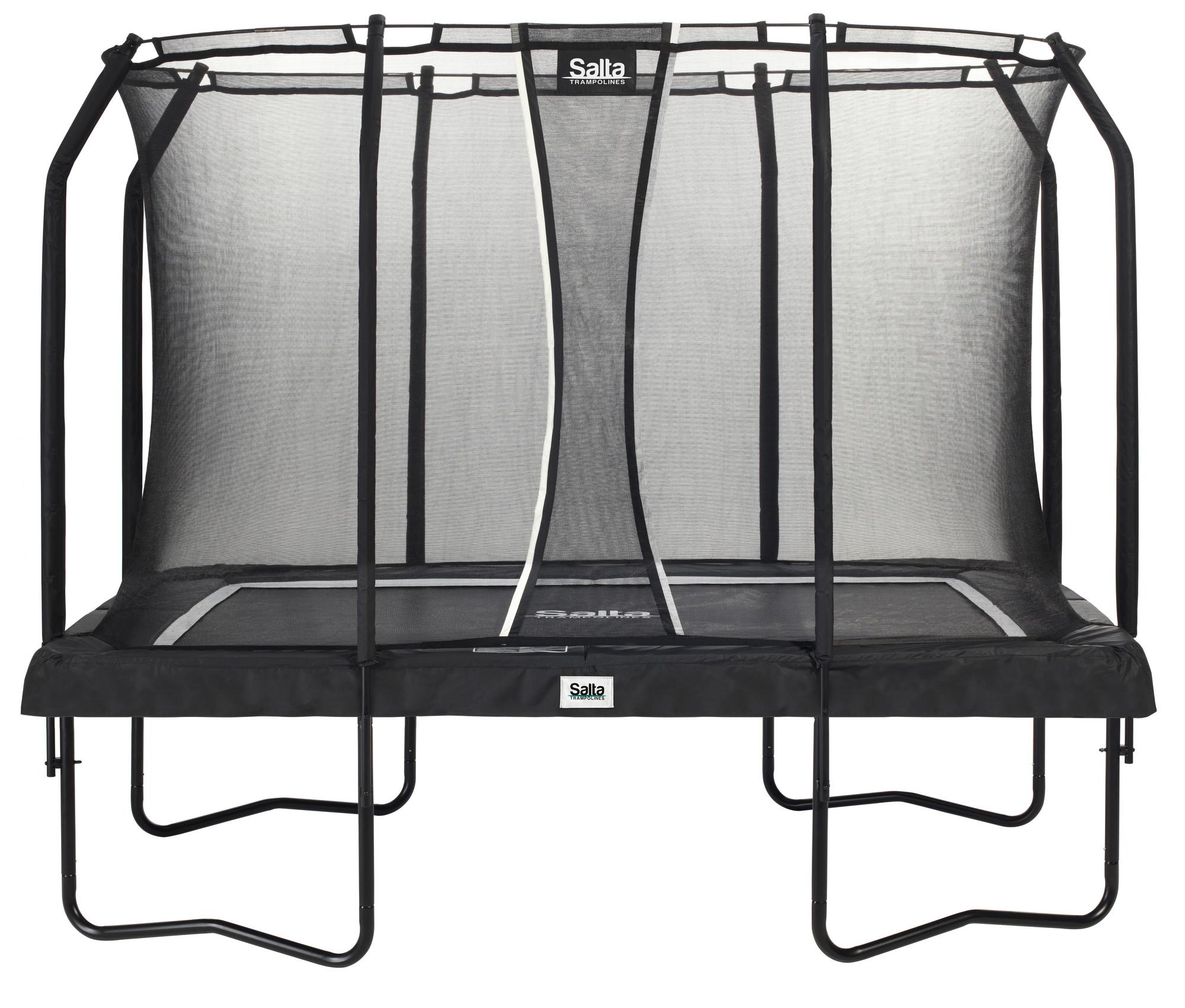 Van Wohi Salta Rechthoekige Trampoline met Veiligheidsnet Premium Black Edition Antraciet 214x305cm (5362) Prijsvergelijk nu!