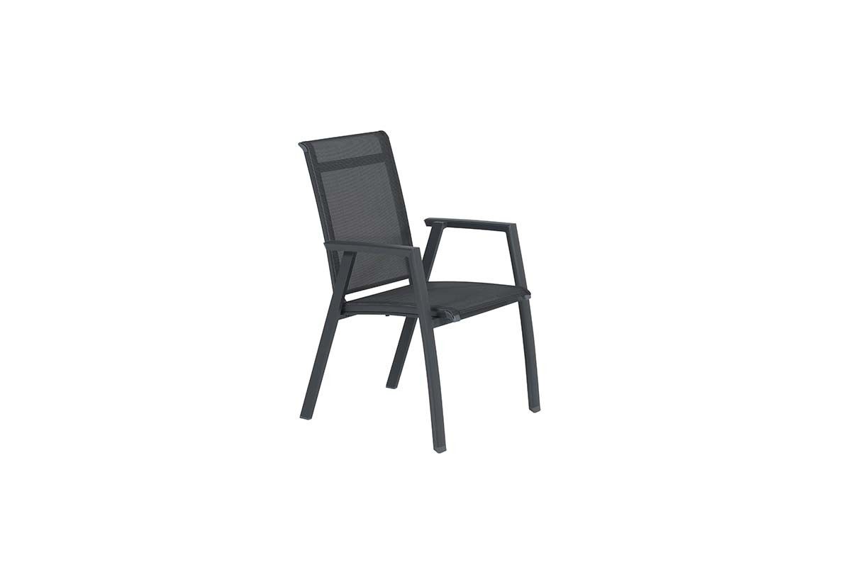 Image of Garden Impressions - Gala dining fauteuil carbon black/ antraciet