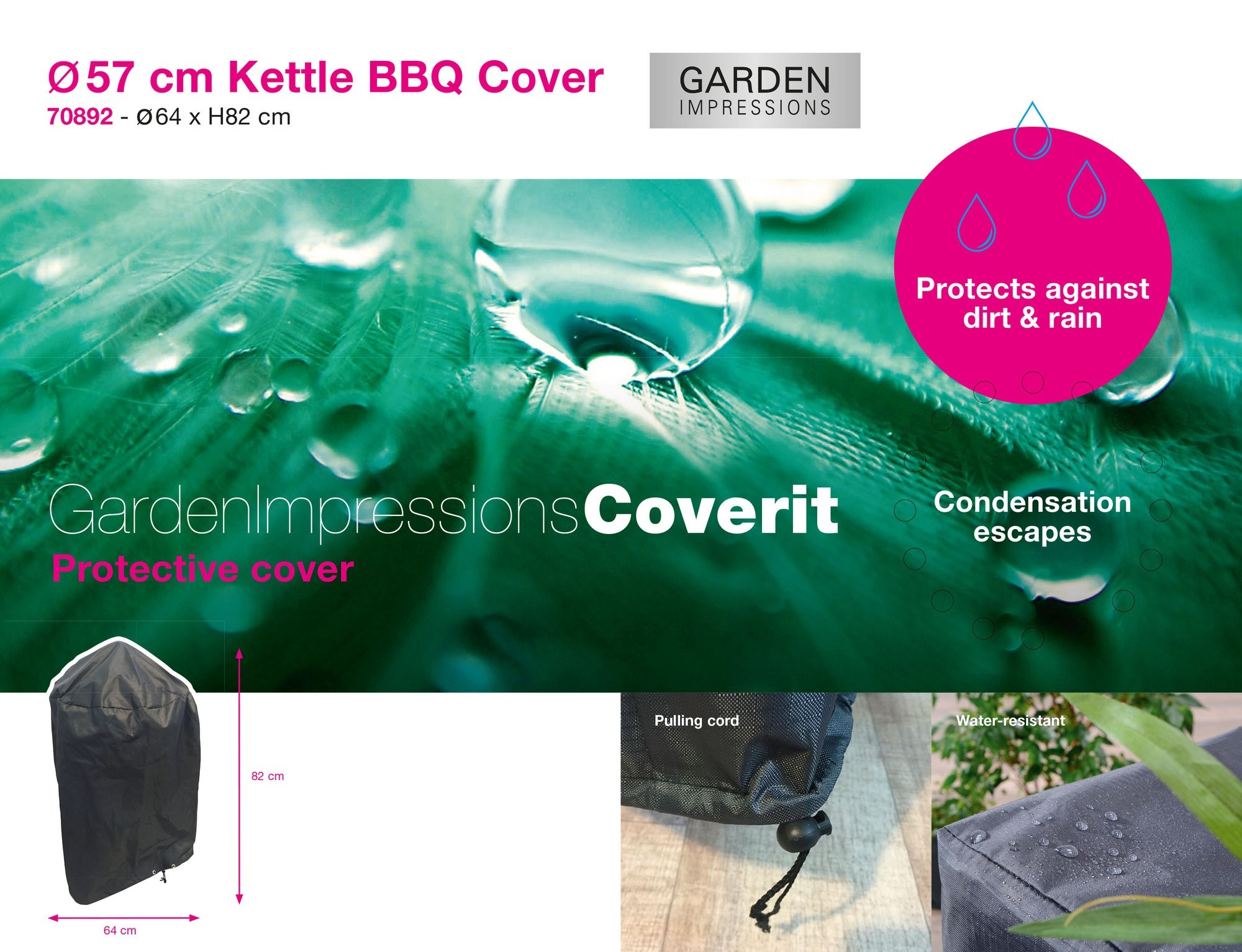 Image of Garden Impressions - Coverit Bol BBQ hoes , 57cm64xH82