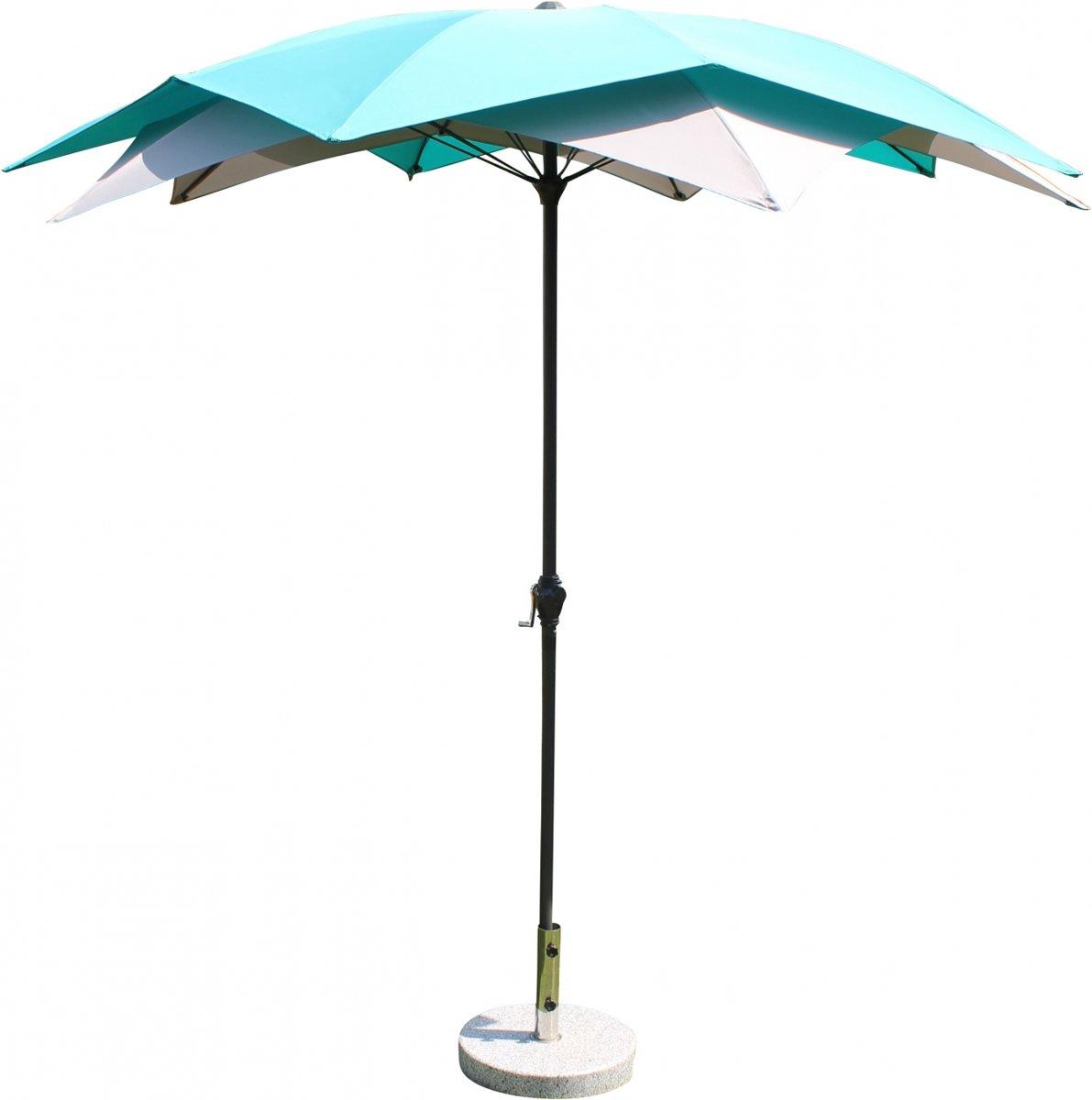 Leco parasol Bloei Turqoise-grijs 270 cm (20700 109)