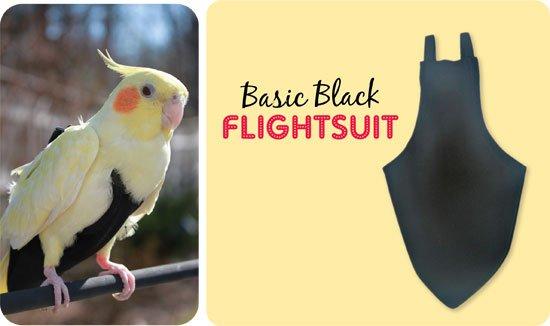 Flightsuit papegaaienluier Wide Zwart
