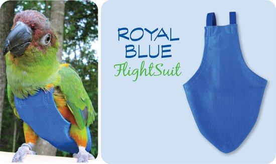 Flightsuit papegaaienluier Medium Blauw